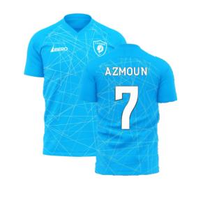 Zenit 2020-2021 Home Concept Football Kit (Libero) (AZMOUN 7)