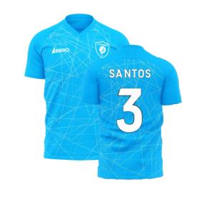 Zenit 2020-2021 Home Concept Football Kit (Libero) (SANTOS 3)