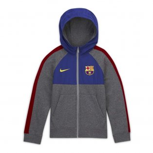 2020-2021 Barcelona Hybrid Full Zip Hoody (Charcoal)