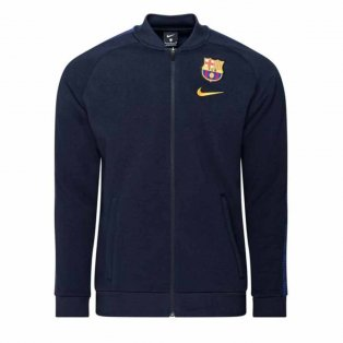 2020-2021 Barcelona Fleece Track Jacket (Obsidian)