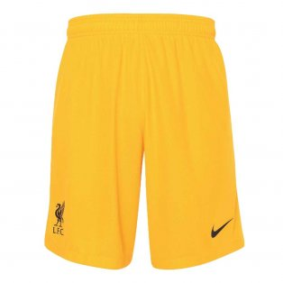 2020-2021 Liverpool Goalkeeper Shorts (Yellow) - Kids