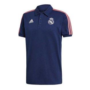 2020-2021 Real Madrid 3S Polo Shirt (Dark Blue)