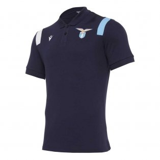 2020-2021 Lazio Poly Cotton Polo Shirt (Navy)