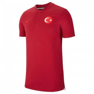 2020-2021 Turkey Authentic Polo Shirt (Red)