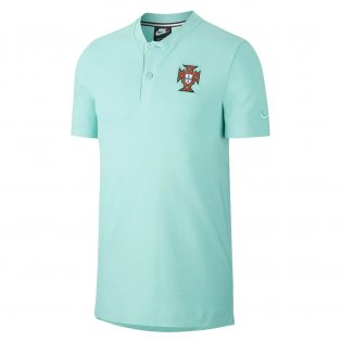 2020-2021 Portugal Authentic Polo Shirt (Mint)