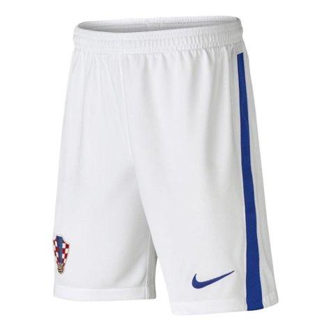 2020-2021 Croatia Home Shorts (White) - Kids