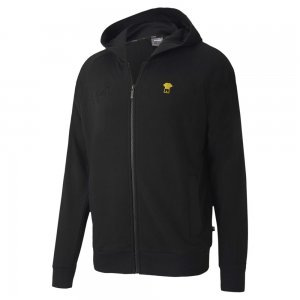 2020-2021 Borussia Dortmund FtblFeat Game Hooded Jacket (Black)