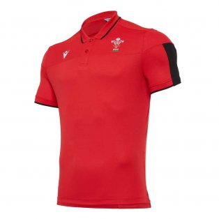 2020-2021 Wales Travel Tech Polo Shirt (Red)