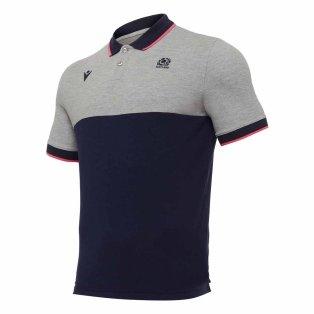 2020-2021 Scotland Leisure Polycotton Polo Shirt (Grey)