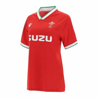 2020-2021 Wales Home Poly Replica Rugby Shirt (Womens)