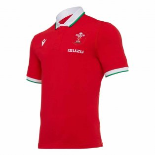 2020-2021 Wales Home SS Cotton Rugby Shirt