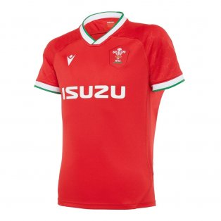 2020-2021 Wales Home Poly Replica Rugby Shirt (Kids)