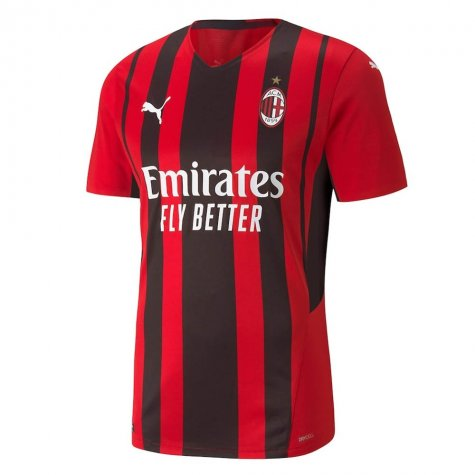 2021-2022 AC Milan Authentic Home Shirt