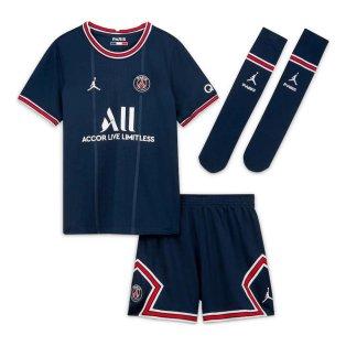 PSG 2021-2022 Little Boys Home Kit