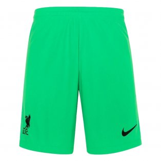 Liverpool 2021-2022 Home Goalkeeper Shorts (Green) - Kids