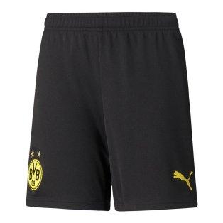 2021-2022 Borussia Dortmund Home Shorts (Black) - Kids