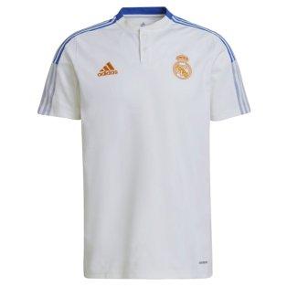 Real Madrid 2021-2022 Polo Shirt (White)