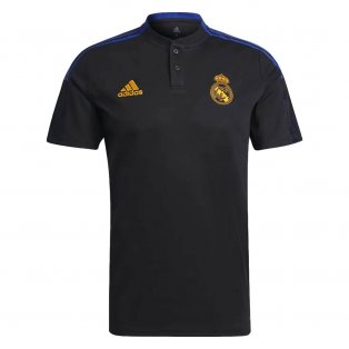 Real Madrid 2021-2022 Polo Shirt (Black)