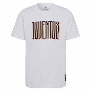 2021-2022 Juventus STR Graphic Tee (White)