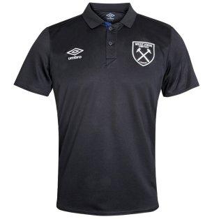 2021-2022 West Ham Poly Polo Shirt (Black)