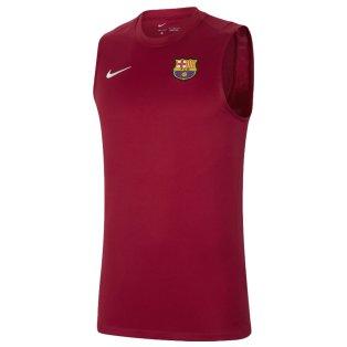 2021-2022 Barcelona Sleeveless Top (Red)