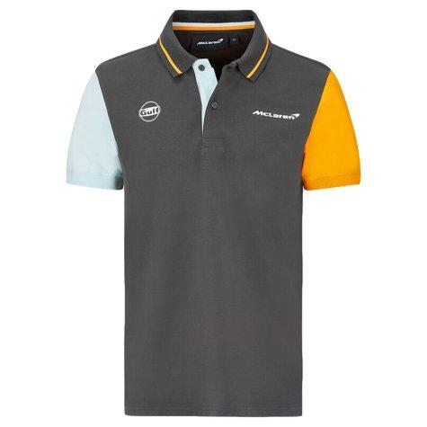 2021 McLaren FW Gulf Color Block Polo (Anthracite)