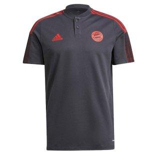 2021-2022 Bayern Munich Polo Shirt (Night Grey)