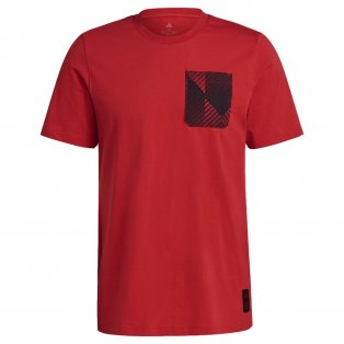 Man Utd 2021-2022 STR Graphic Tee (Red)