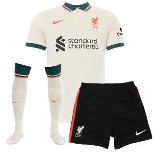 Liverpool 2021-2022 Away Little Boys Mini Kit