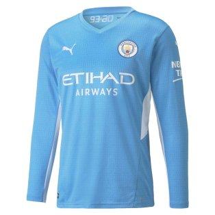 2021-2022 Man City Long Sleeve Home Shirt
