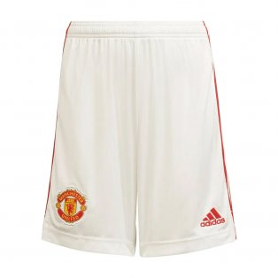 Man Utd 2021-2022 Home Shorts (White)