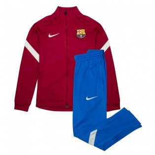 2021-2022 Barcelona Dry Squad Tracksuit (Noble Red) - Little Boys