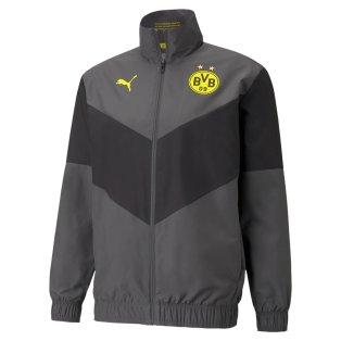 2021-2022 Borussia Dortmund Pre Match Jacket (Asphalt)