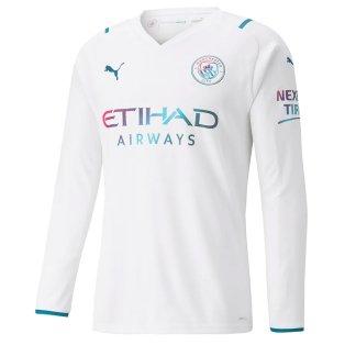 2021-2022 Man City Long Sleeve Away Shirt