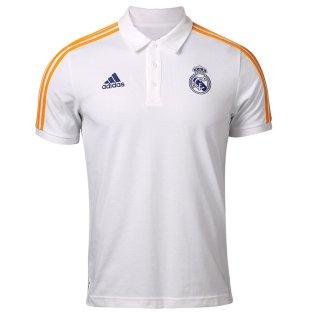 Real Madrid 2021-2022 3S Polo Shirt (White)