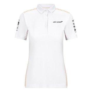2021 McLaren Team Polo Shirt (White) - Womens