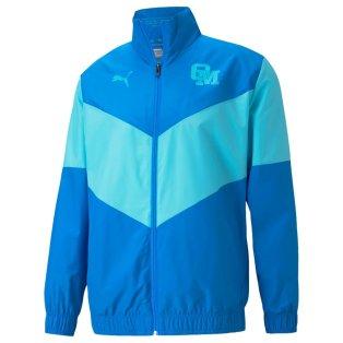 2021-2022 Marseille Pre-Match Jacket (Electric Blue)