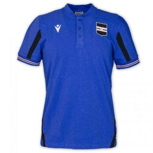 2021-2022 Sampdoria Polycotton Polo Shirt (Blue)