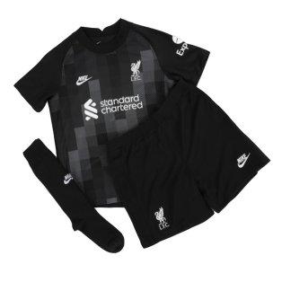 Liverpool 2021-2022 Home Goalkeeper Mini Kit (Black)