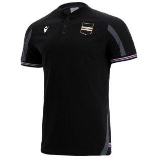 2021-2022 Sampdoria Polycotton Polo Shirt (Black)