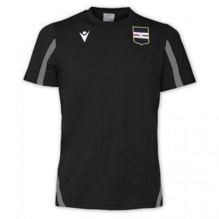 2021-2022 Sampdoria Cotton Poly T-Shirt (Black)