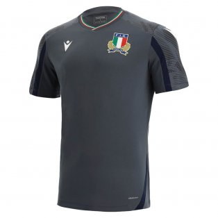 2021-2022 Italy Rugby Training Poly Tee