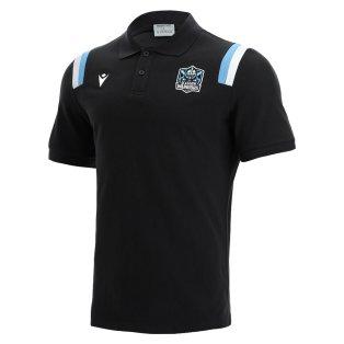 2021-2022 Glasgow Warriors Travel Cotton Polo Shirt (Black)