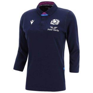 2021-2022 Scotland LS Home Cotton Rugby Shirt (Womens)