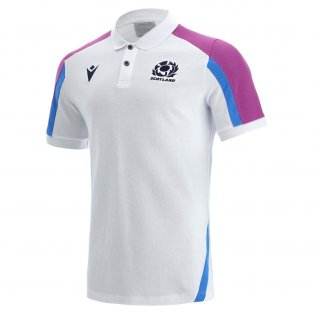 2021-2022 Scotland Official Polycotton Polo Shirt (White)