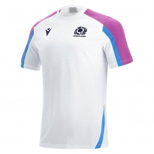 2021-2022 Scotland Official Travel Polycotton Shirt (White)
