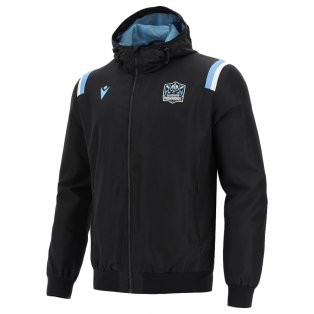 2021-2022 Glasgow Warriors Travel Micro Full Zip Hooded Sweatshirt