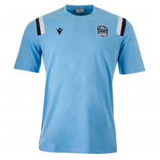 2021-2022 Glasgow Warriors Travel Cotton Poly Shirt (Blue)