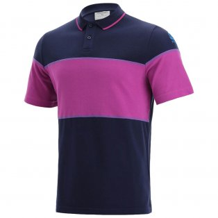 2021-2022 Scotland Leisure Polycotton Polo Shirt (Navy-Purple)