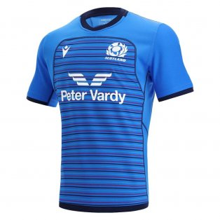 2021-2022 Scotland Rugby Training Jersey (Blue)